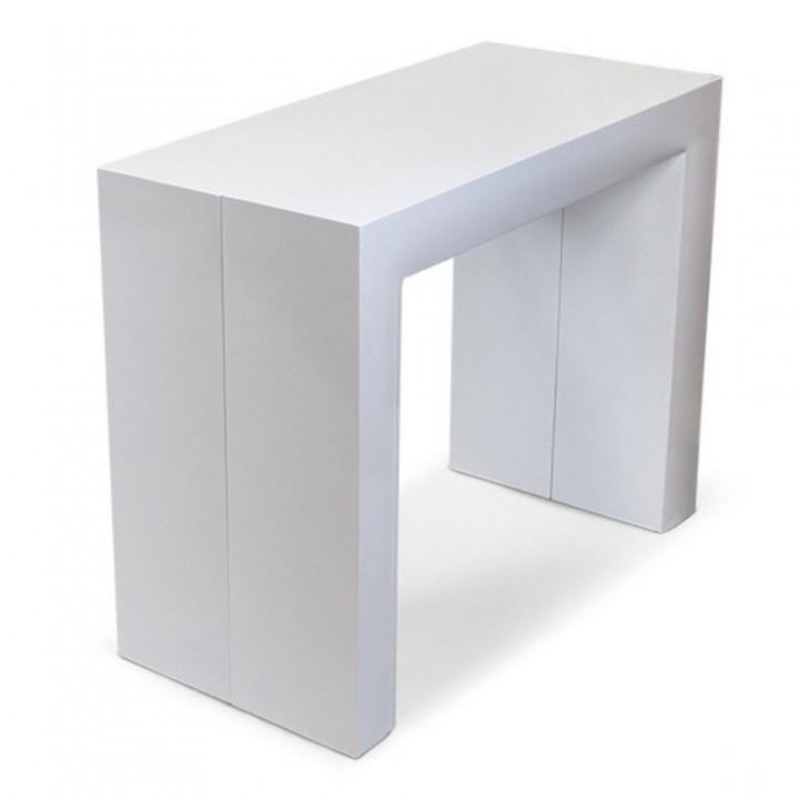Стол-консоль ALTA белый глянец