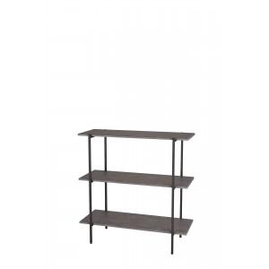 Стеллаж АТЛАНТИК-905 серый бетон