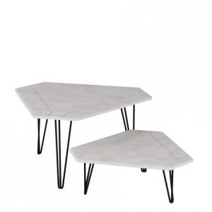 Журнальный стол ТЕТ-А-ТЕТ белый бетон