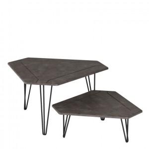 Журнальный стол ТЕТ-А-ТЕТ серый бетон