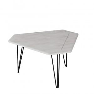 Журнальный стол ТЕТ белый бетон