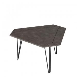 Журнальный стол ТЕТ серый бетон