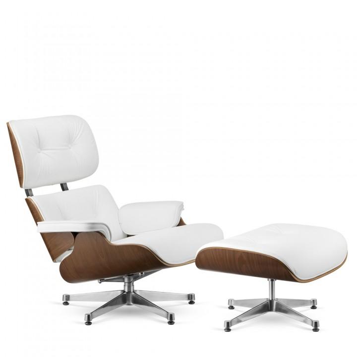 Кресло Alta EAMES white натуральная кожа