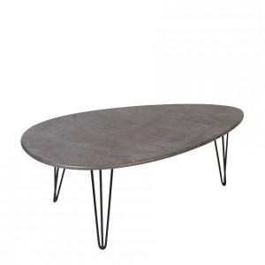 Журнальный стол ШЕФФИЛД серый бетон