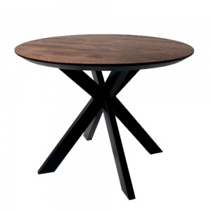 Стол ALTA ROUND 1100 мореный дуб / E черный
