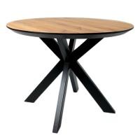 Стол ALTA ROUND 1100 натуральный дуб / Е черный