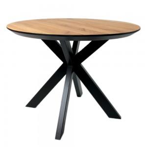 Стол ALTA ROUND 900 натуральный дуб / Е черный