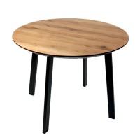 Стол ALTA ROUND 1000 натуральный дуб / M черный