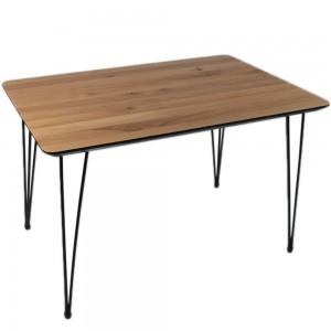 Стол ALTA SQUARE 70х110 натуральный дуб / S черный
