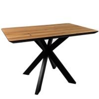 Стол ALTA SQUARE 80х120 натуральный дуб / E черный