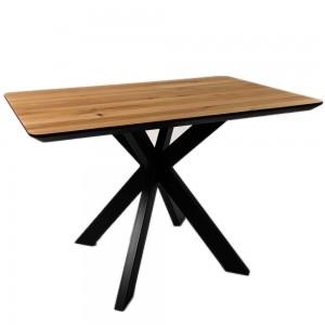 Стол ALTA SQUARE 80х130 натуральный дуб / E черный