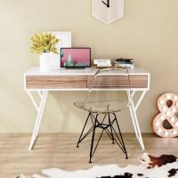 Письменный стол SKANDI белый / зебрано