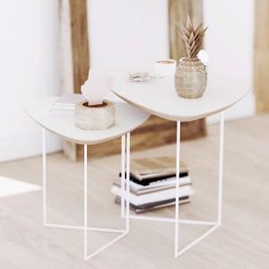 Журнальный стол 2 в 1 SKANDI белый