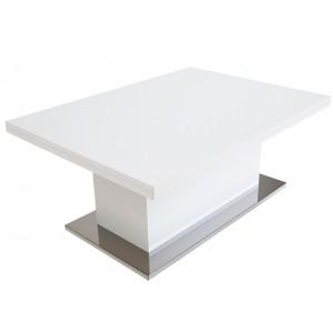Стол-трансформер SLIDE белый глянец